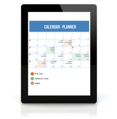tablet pc calendar