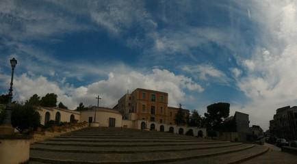 Angeli sul santuario del calvario San Cataldo Caltanissetta
