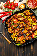 roasted chicken wings with herbs