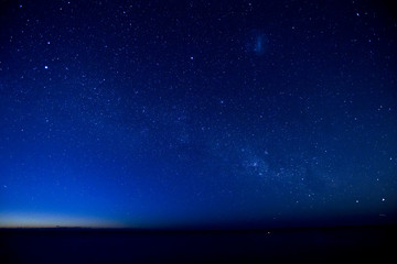 Milky way, between night and dawn