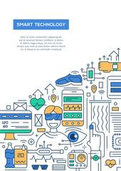 Smart Technology - line design brochure poster template A4