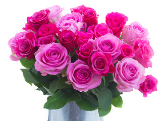 bouquet of fresh pink roses