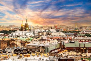 Wall Mural - Aerial view of St Petersburg, Russia