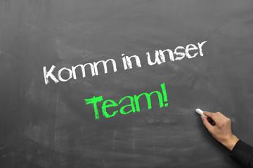 Komm uns unser Team!