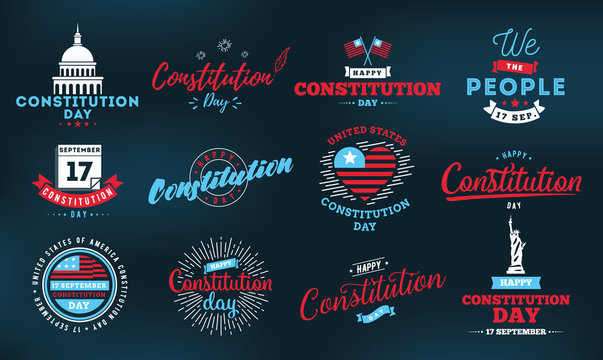 USA constitution day. 17 september.