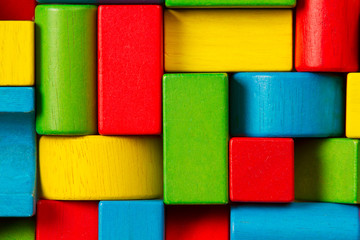 Toy Blocks Background, Organized Children Building Bricks