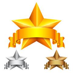 Star Award with Ribbon