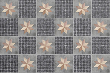 Ceramic tiled ground