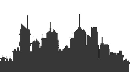 flat design city skyline icon vector illustration
