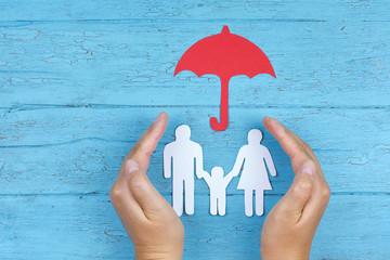 Konzept Schutz und Fürsorge der Familie