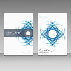 Abstract line brochure design