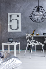 Home office with a trendy look