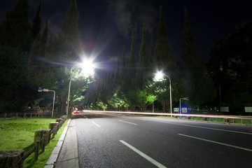 Tokyo Aoyama of the road late at night Meiji Jingu Outer Gardens of the landscape Fotomurales