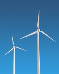 éolienne énergie durable ciel bleu