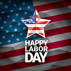 USA Labor day vector background or poster.