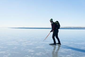 Man long-distance skating, Sweden