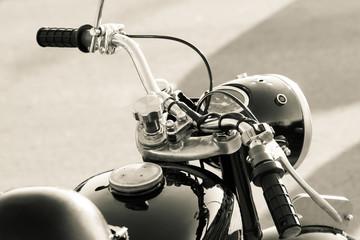 Old motorbike detail