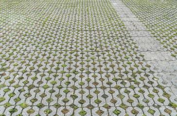 Concrete block floor