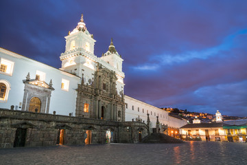 Plaza de San Francisco in old town Quito