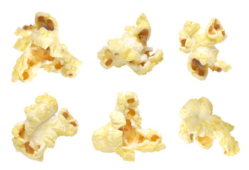 popcorn collection isolated on white background
