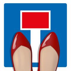 Impasse - professionnel - femme