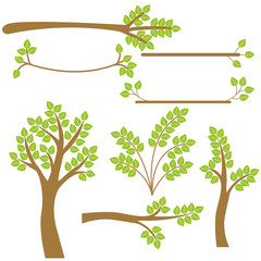 Vector set of trees.