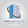 architech construction idea vector logo