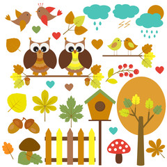 Vector set of nature-themed.