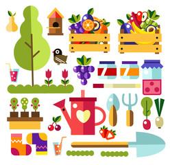Garden tools set of illustrations