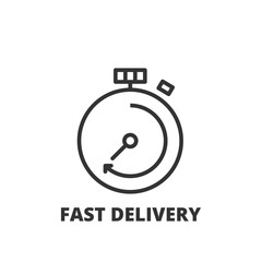 Line icon. Fast delivery