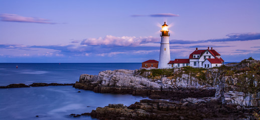 Portland Head Light Night Wall mural