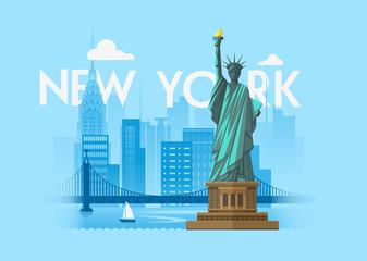 New York Cityscape background design