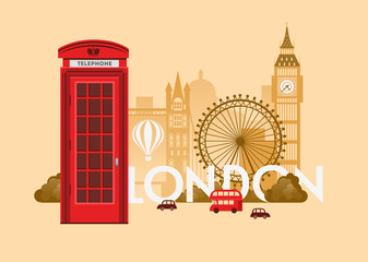 London Cityscape background design