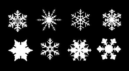 Isolated Snowflake Collection