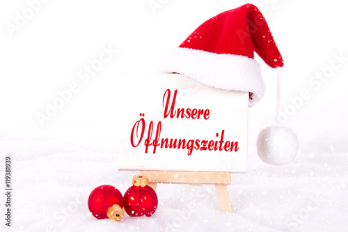 unsere ffnungszeiten an weihnachten stockfotos und. Black Bedroom Furniture Sets. Home Design Ideas