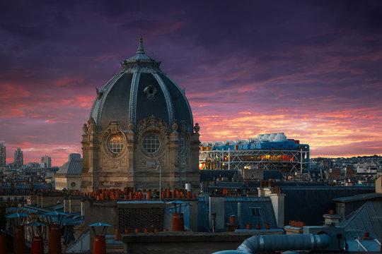 Tribunal de Commerce & Centre Pompidou, Paris