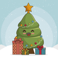 tree merry christmas character  icon