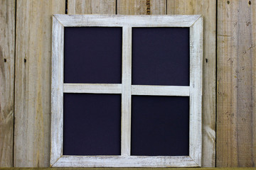 Rustic window frame with blank space for text