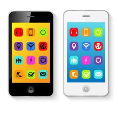 Mobile Smart Phones Vector Illustration