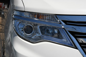 Front grill of a car