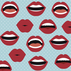 set lips female d icons vector illustration design