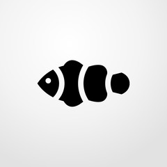 clown fish icon. Flat design