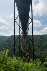 Wall Mural - Metal structure of the New River Gorge Bridge in West Virginia