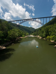 Wall Mural - Rafters at the New River Gorge Bridge in West Virginia