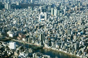 東京都市風景 俯瞰 都心の街並