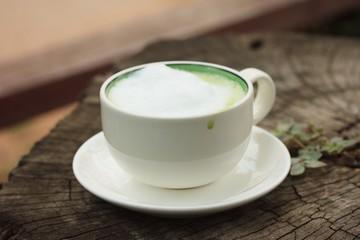 Tasty hot green tea