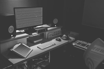 home studio, com-music, sound design concept