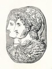 Gonzaga Cameo; 3rd Century BC (from Meyers Lexikon, 1895, 7/286-7)
