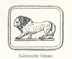 Italian engraved gem from the 16th century (from Meyers Lexikon, 1895, 7/286-7)