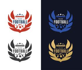 Football college logo,football logo,vector logo template
